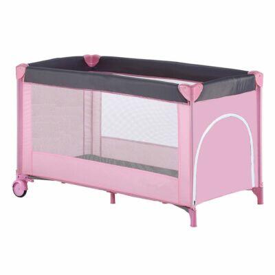 Utazóágy gyerekeknek, 60 x 120 cm - Rózsaszín