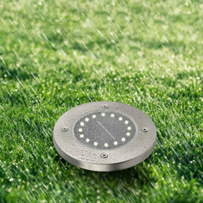 Disk Lights 16 ledes napelemes nyomvonaljelölő lámpa készlet (4 db)