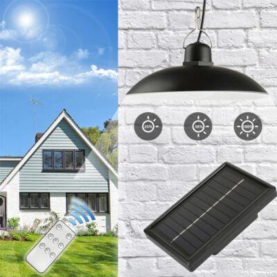 Retro függeszthető napelemes LED lámpa távirányítóval, szolár panellel