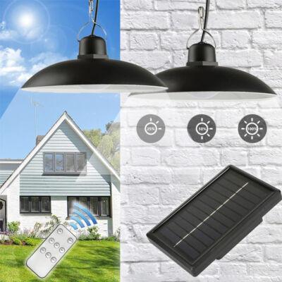 2 db retro függeszthető napelemes LED lámpa távirányítóval, szolár panellel