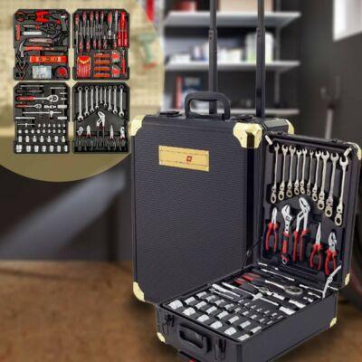 Kraftmate 356 részes racsnis szerszámkészlet gurulós kofferral