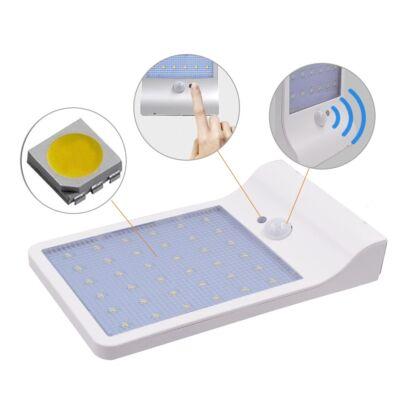 36 ledes napelemes lámpa mozgásérzékelővel, fehér színben