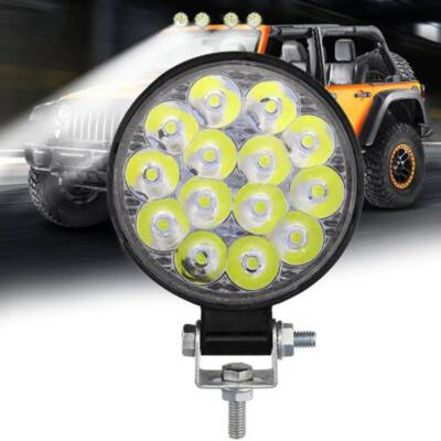 Nagy fényerejű autós kiegészítő világítás, munkalámpa, 42W, kerek