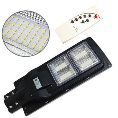 Mozgásérzékelős, napelemes utcai, udvari LED lámpa távirányítóval, 100W