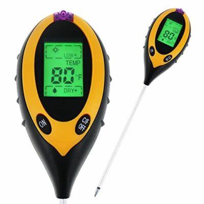 4in1 digitális talajszonda, talajteszter, hőmérő, PH mérő