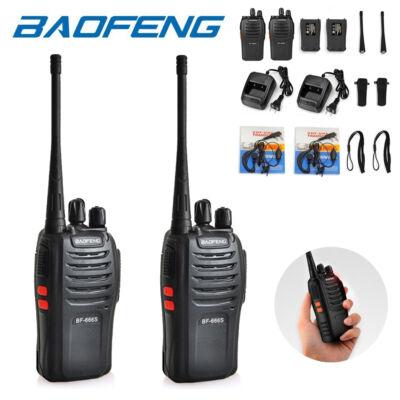 Baofeng BF-666S UHF walkie-talkie, rádió adó-vevő készlet fülhallgatóval