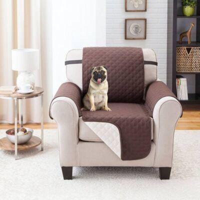 Couch Coat kétoldalú fotelvédő takaró, barna és bézs színben