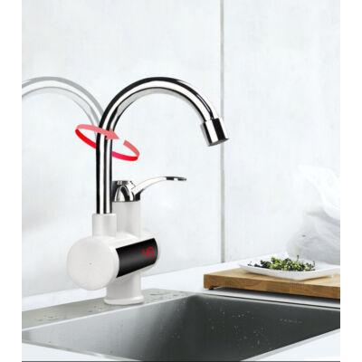 Giovanni prémium átfolyós vízmelegítő csaptelep kijelzővel, alsó bekötésű 3600W