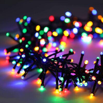 300 ledes, 8 programos, színes, sorolható karácsonyi fényfüzér, 4.5 méter