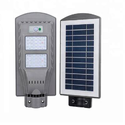 Napelemes utcai LED lámpa mozgásérzékelővel, 40W