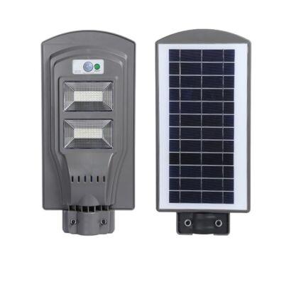 Értékcsökkent - Napelemes utcai LED lámpa mozgásérzékelővel, 60W