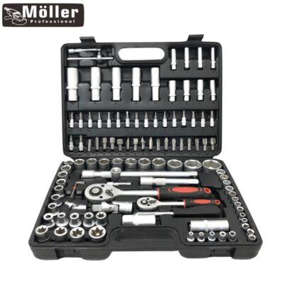 Möller 108 részes racsnis dugókulcs készlet kofferben MR60282