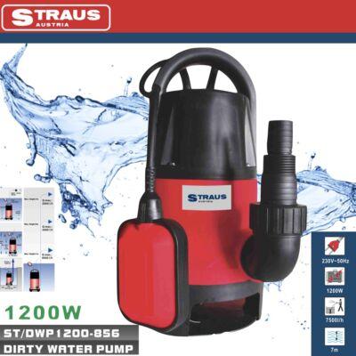 Straus szennyvízszivattyú, búvárszivattyú 1200 W, 7500 l/h - ST/DWP1200-856