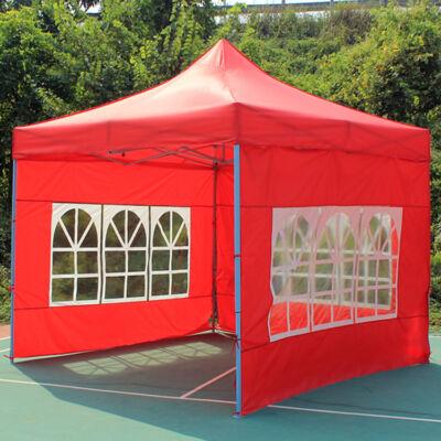 3 oldali ablakos oldalfal, 9 m oldalponyva kerti sátorhoz, pavilonhoz - piros