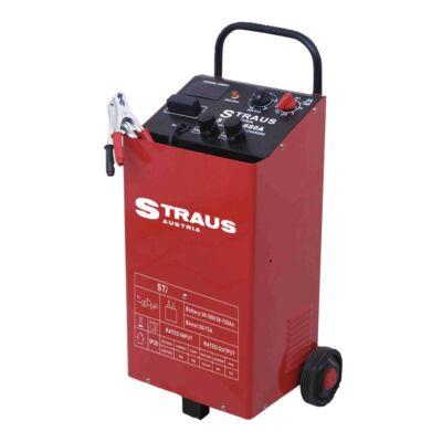 Straus gurulós akkumulátor töltő kocsi gyorstöltés funkcióval, 12/24V, 75A, STCA-680B