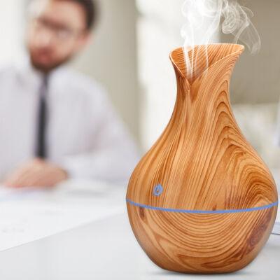 Fa hatású mini aromaterápiás párologtató, ultrahangos párásító, illatosító - tulipán