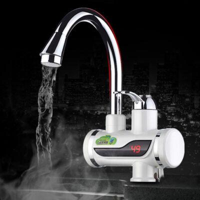 LED kijelzős átfolyós vízmelegítő 3 kW teljesítménnyel, függőleges csatlakozóval