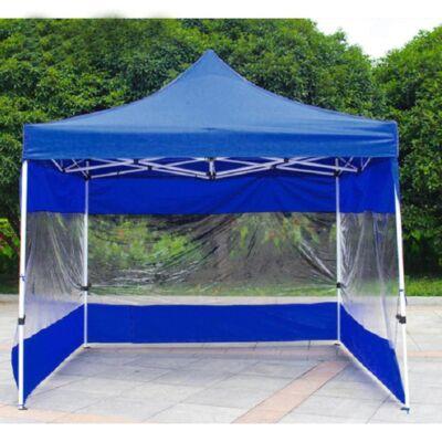 3 oldalfal, 9 m oldalponyva kerti sátorhoz, pavilonhoz - kék-átlátszó