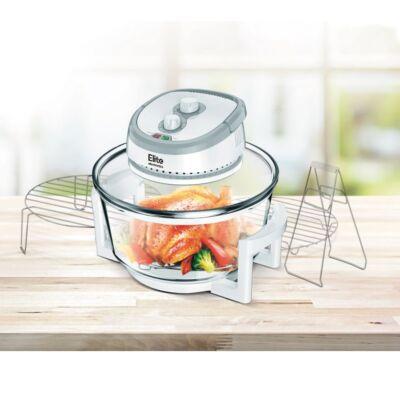 Elite® halogén sütő, olaj nélküli forró levegős fritőz 1400W, 12 l kapacitás 3 db kiegészítővel + receptkönyv