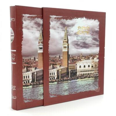 Díszdobozos album Campanile harangtorony mintával, 30 oldalas 240 fotónak