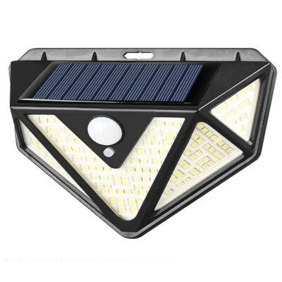 Napelemes mozgásérzékelős lámpa széles világítási szöggel, 1200 lumen