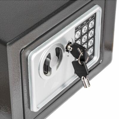 Programozható digitális biztonsági széf, bútorszéf, sötét színben