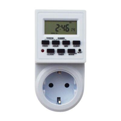 Digitális időkapcsoló, időzíthető aljzat, konnektor