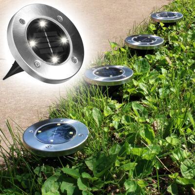 Disk Lights 4 ledes napelemes nyomvonaljelölő lámpa készlet