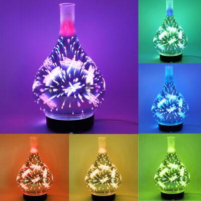 3D szitakötő mintázatú színes aromaterápiás illatosító üvegbúrával