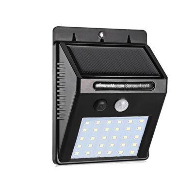 Napelemes mozgásérzékelős mini LED lámpa, falra szerelhető - 30 LED