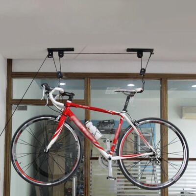 Plafonra szerelhető mennyezeti multifunkciós tároló,  kerékpár tároló, kerékpár lift
