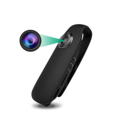 Mini FullHD kamera mozgásérzékelővel, testkamera, megfigyelő kamera csiptetővel