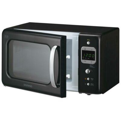 Daewoo Retro Mikrohullámú sütő 20 L, Fekete, 800 W, KOR-6LBRB - csomagolássérült