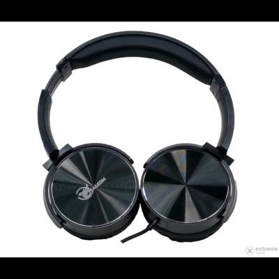 Falcon vezetékes sztereó fejhallgató, fekete, YM-551