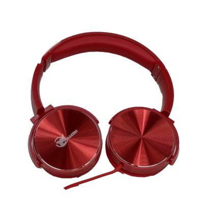 Falcon sztereó fejhallgató, vezetékes, piros, YM-552