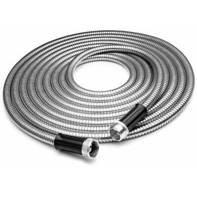 Csavarodásmentes extra erős fém locsolótömlő gyorscsatlakozóval, 15 méter
