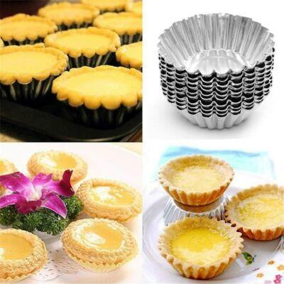 10 db hagyományos fém muffin sütőforma, sütőkosár, kosárka