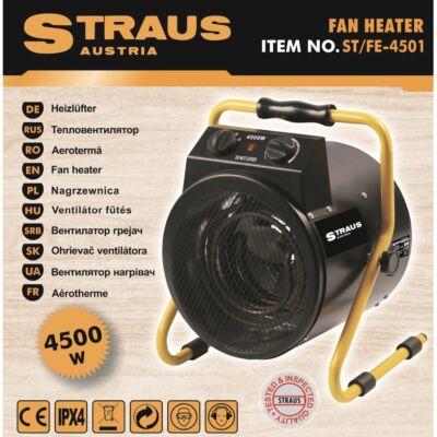 Straus hősugárzó, hordozható ventilátoros fűtőtest, 4500W