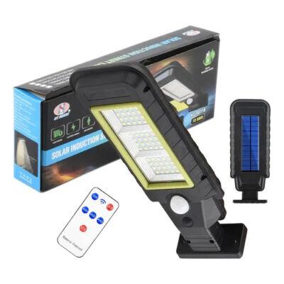 Napelemes LED lámpa mozgásérzékelővel, fali konzollal és távirányítóval, HS-8011A