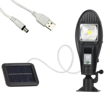 Mozgásérzékelős projektoros LED lámpa különálló napelemmel, 100W