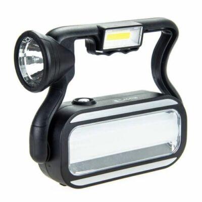 Többfunkciós napelemes COB LED lámpa, munkalámpa és powerbank USB porttal