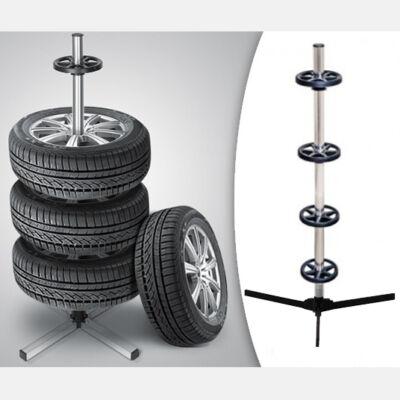 Keréktartó állvány, torony 4 db kerékhez
