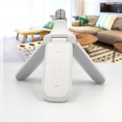 Háromágú összecsukható E27 LED izzó, 45W teljesítménnyel