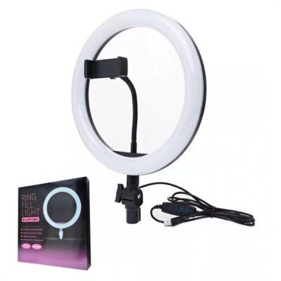 LED körvaku telefontartóval és állvánnyal, állítható színhőmérséklettel