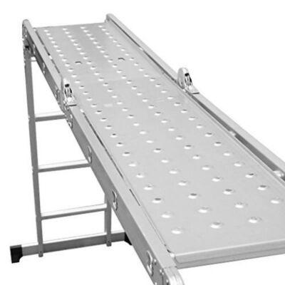 Két részes acél munkaállás, munkapad készlet összecsukható 4x3 fokos létrához