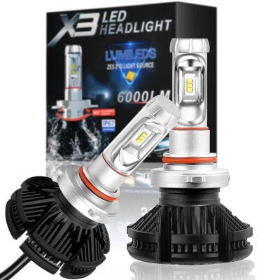 Lumiled X3 LED  autó fényóró izzó pár HB3 foglalattal - hidegfehér