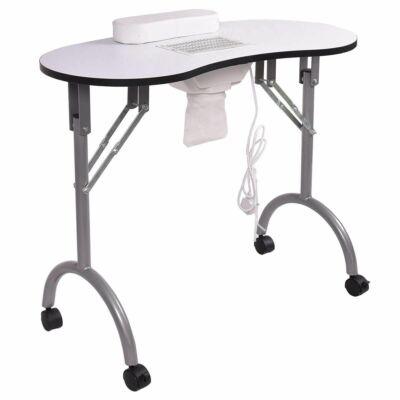 Hordozható manikűr asztal ajándék hordtáskával - ventilátoros