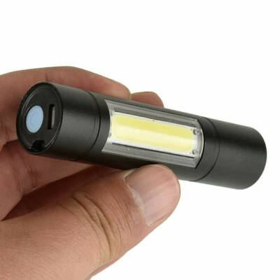 Nagy fényerejű, multifunkciós mini COB LED zseblámpa, rúdlámpa, műanyag dobozban