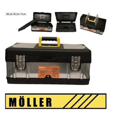 Möller rozsdamentes acél szerszámosláda fém csattal 36,5x18,5x17 cm MR70658