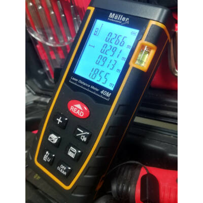 Möller lézeres távolságmérő 40m méréshatárral MR70664